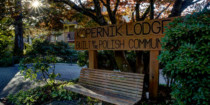 Front Entrance sign, built with passion | Kopernik Lodge