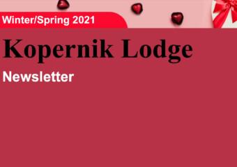 Kopernik Lodge Spring 2021 Newsletter
