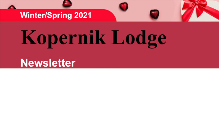 Kopernik Lodge Spring 2021 Newsletter