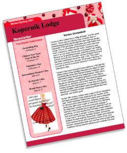 Click here: Kopernik Lodge Spring 2021 Newsletter