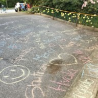 Kopernik essential worker support: more driveway chalk art